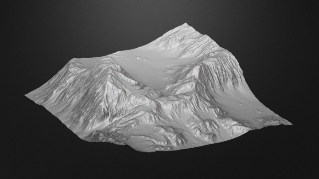 Mountain-Terrain-Model-free-3d