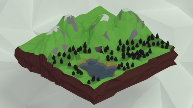Mountains-free-3D-model