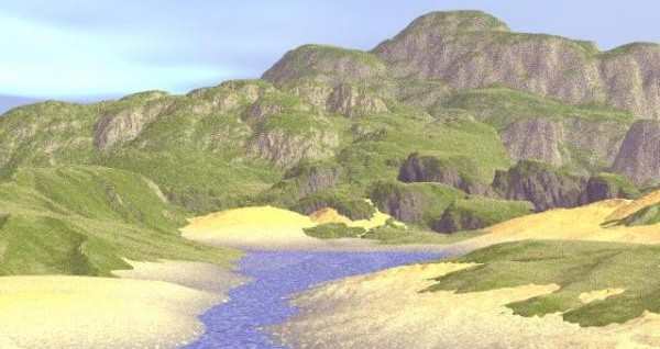 Sandy-Cliffs-free-3d-model-bryce