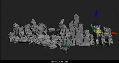 rockery-3D-model-free