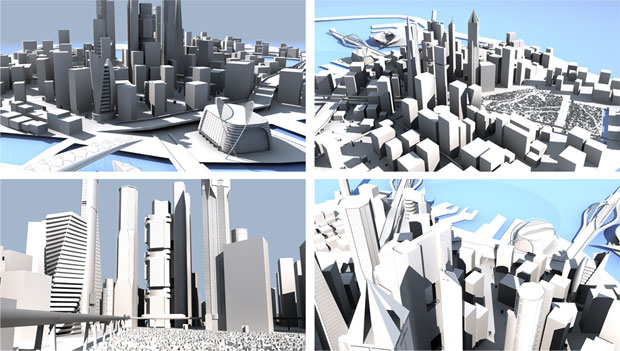 3D-City-Architecture-Project-free-model