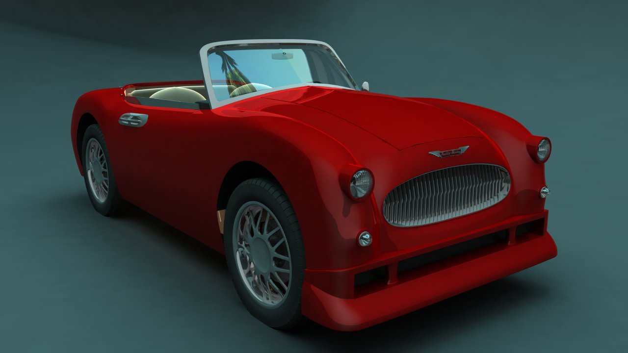 Car-Austin-Healey-500-Topless-3d-model