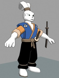 Cartoon-Samurai-Rabbit-free-3d-rig-model