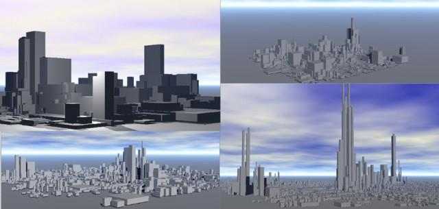 City-pack-free-3d-model