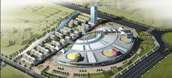 East-China-City-plastic-model-3d-free