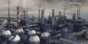 Giant-Refinery-3d-model