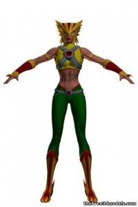 Hawkgirl-3d-model-free-rigged
