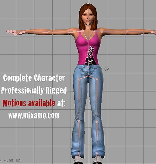 Joan_Cool_Girl_free_3d_model_rigged
