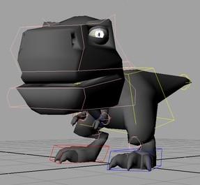 Krag-Toon-Trex-Character-Rig-free-3d-model