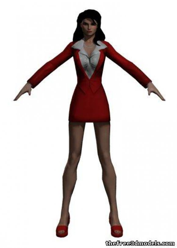Lois-Lane-3d-model-free-rigged