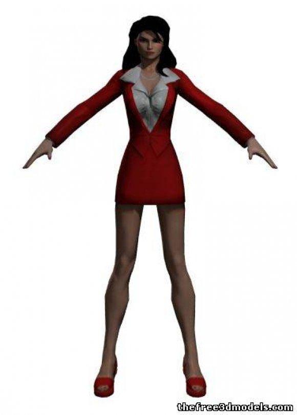 Lois-Lane-3d-model-free-rigged