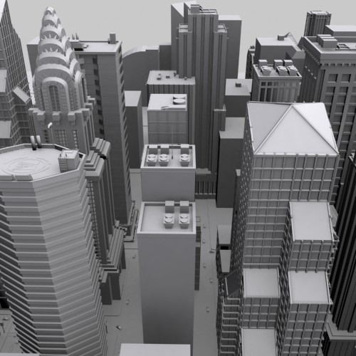 New york streets free 3d model rockthe3d for New york models