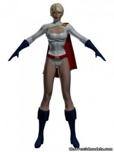Power-Girl-3d-model-free-rigged
