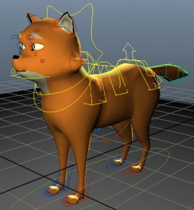 Rigged-Fox-Maya-free-3d-model