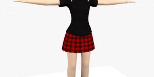 Sara-Tween-Girl-free-3d-model-rigged