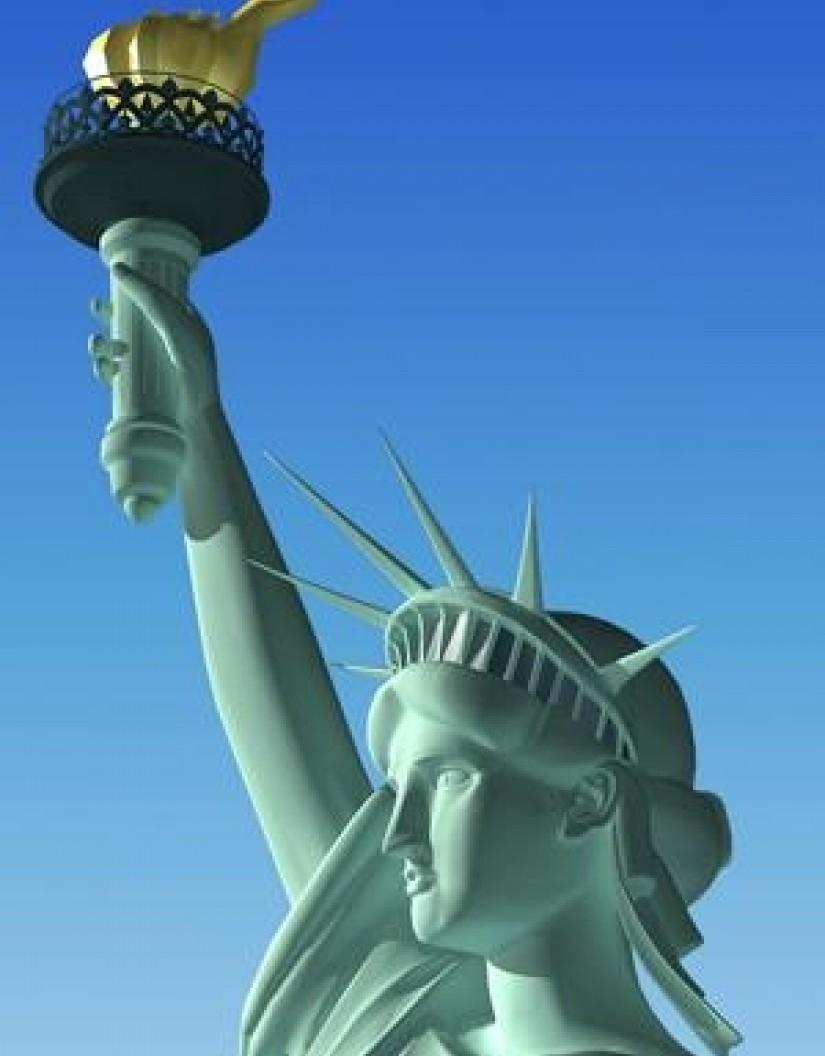 statue liberty 3d model rockthe3d