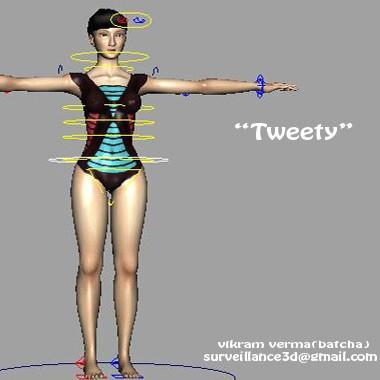 Tweety-free-3d-rigged-model