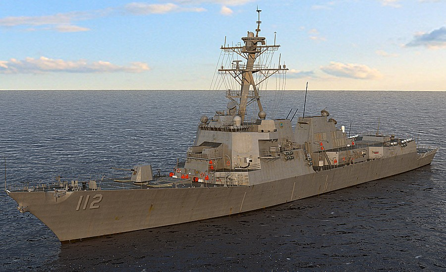 US-NAVY-USS-Michael-Murphy-DDG-112-Arleigh-Burke-class-flight-IIA-destroyer-3d-model