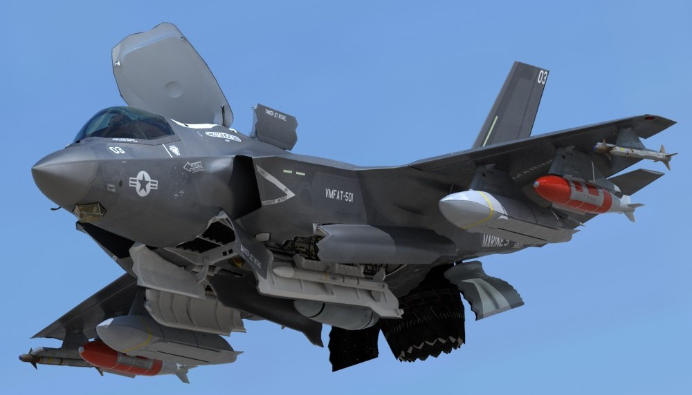 USMC-F-35-B-Lightning-II-Operational-Model-pilot-3d-model