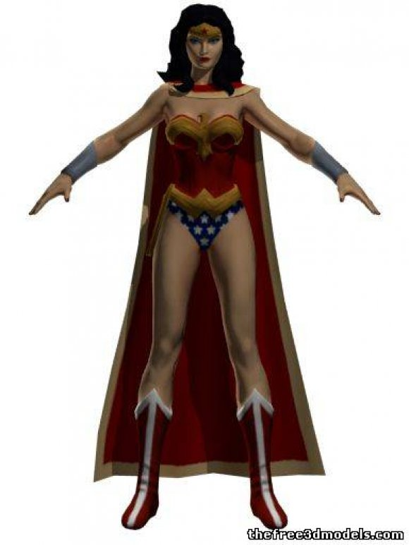Wonder-Woman-3d-model-free-rigged