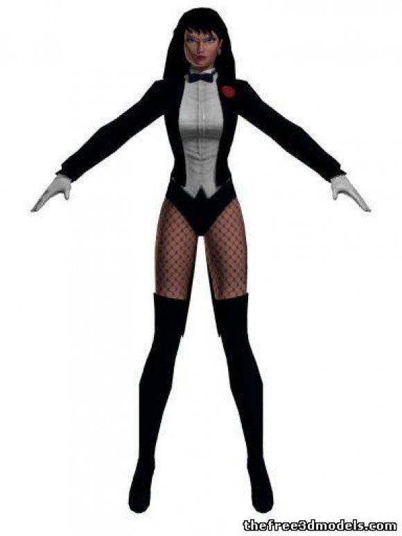 Zatanna-3d-model-free-rigged