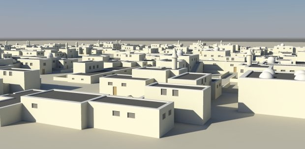small-desert-city-3d-model-free