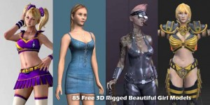 85 Free 3D Rigged Beautiful Girl Models