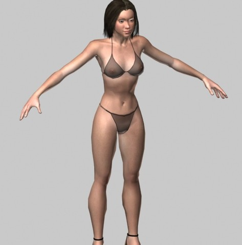 Alicia-bikini-rigged-3d-model-free
