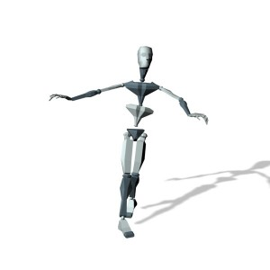 Child play and run around motion capture