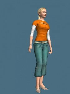 Pure girl tigged 3d model free