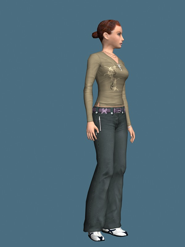 Sportive-woman-rigged-3d-model-free | RockThe3D