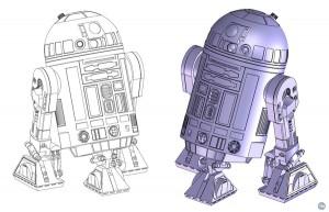 Star Wars R2-D2 3D