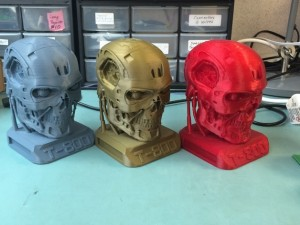 T800 Smooth Terminator Exoskull Printable WithBase