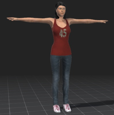 Victoria-free-3d-rigged-model