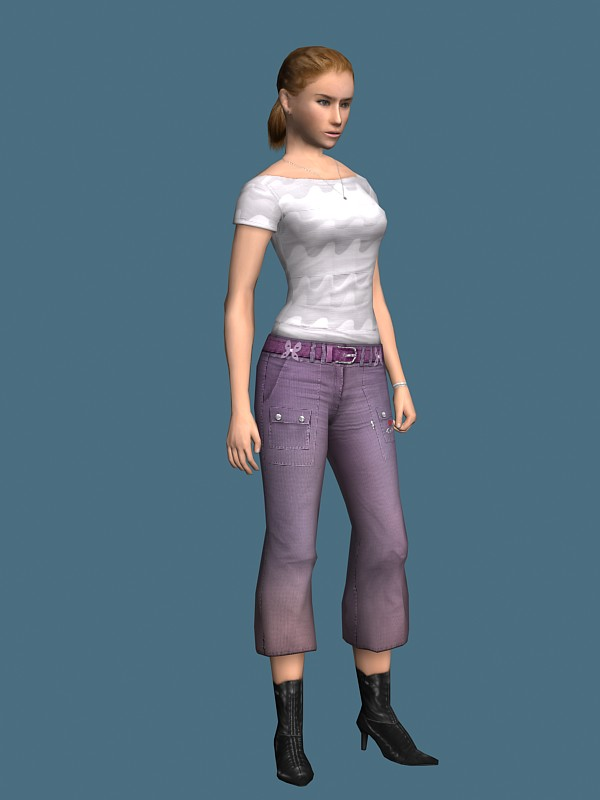 Young girl rigged 3d model free | RockThe3D