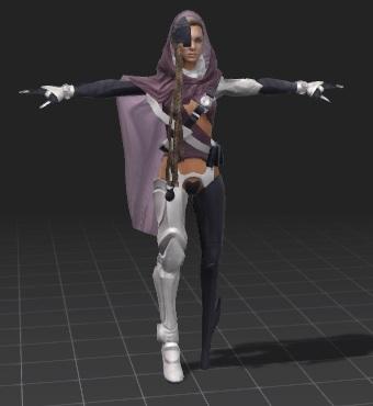 female-scifi-free-3d-rigged-model